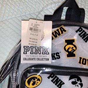 PINK Victoria's Secret Bags - PINK Iowa Hawkeyes Backpack - NWT
